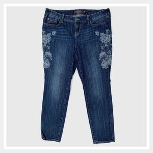 Torrid Floral Embroidered Premium Skinny Jeans 18